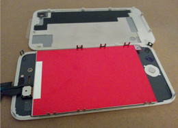 Wholesale Digitizer Touch Screen 4s Back - LCD Display With Touch Screen Digitizer Assembly Repair + Back Cover For iPhone 4 4G 4S