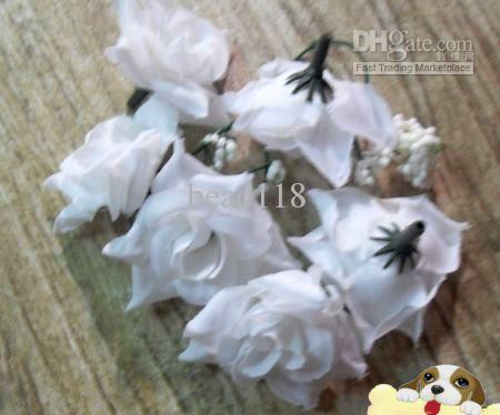 Caldo ! White Crimping Rose Flower Head Wedding Flower Flower Decoration Flower Ball Flower Arrangement 5.5cm