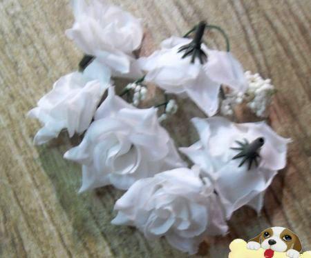 Горячо ! Белый опрессовки роза цветок голова свадьба Шелковый цветок украшения цветок мяч цветок расположение 5,5 см