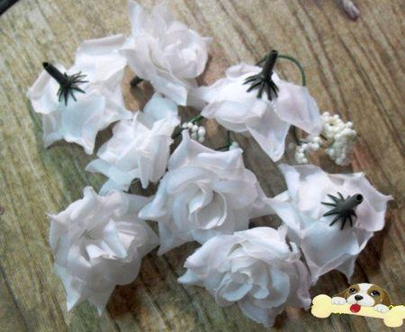Hot ! White Crimping Rose Flower Head Wedding Silk Flower Decoration Flower Ball Flower Arrangement 5.5cm