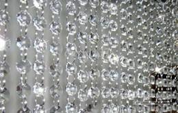 Wholesale Crystal Bead Curtain Lamp - Wholesale Chandelier Wedding Crystal acrylic Lamp Curtain Octagon Bead Chain
