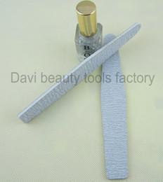 Arte de uñas rombo online-50 unids / lote Rhombus gris papel de lija archivo de uñas para el arte del clavo 100/180 esmeril herramientas de uñas