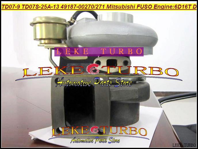 TD07-9 TD07S-25A-13 49187-00271 49187-00270 ME073935 Turbo Turbocharger voor Mitsubishi FUSO FM657 Truck 6.0L 1998- 6D16T 6D16 D