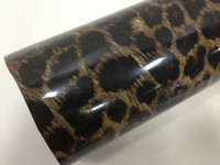 Wholesale Car Vinyl Wrap Designs - Leopard Skin Design Glossy Vinyl Film Car Protection Wrapping Sticker Self-adhesive with Air Drains 1.52m*30m with Free Film Scraper