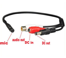 Wholesale Cctv Cameras Microphones - Mini CCTV Microphone for Security Camera Audio Surveillance DVR, CCTV Mic Audio Cable, Audio Receiver