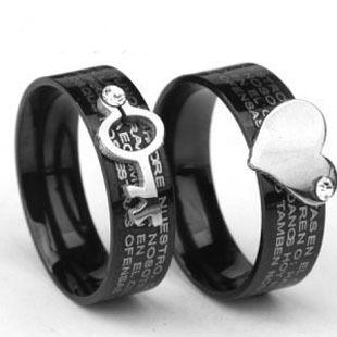 Couple Rings Couple Rings Korean Bible Text Titanium Steel ...