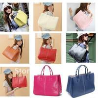 Wholesale Camel Hand Bag - Fashion Women's Handbag Lady PU Hand bag Man-made Leather Shoulder Bag Versatile Totes