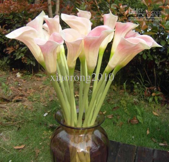 real touch large size calla lily flowers artificial callas flowers simulation pu calla lilies for wedding home decorations wedding flower from - Calla Lily Flower