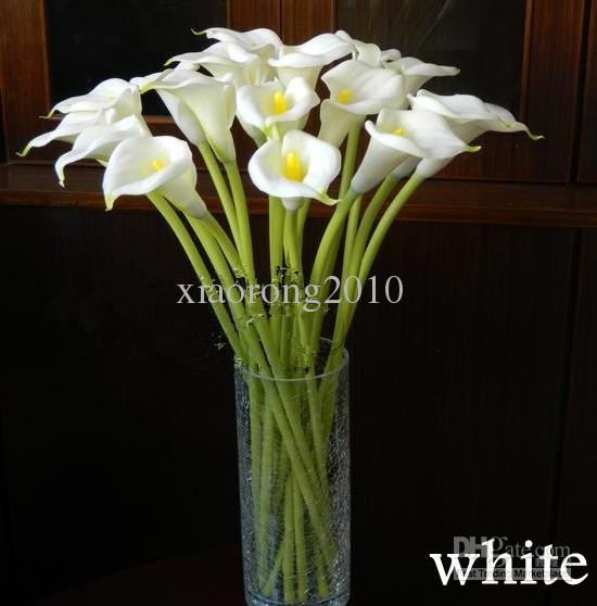 Реальный сенсорный большой размер Каллы цветы искусственные Каллы цветы моделирование PU Каллы 8 цветов для свадьбы центральные цветы