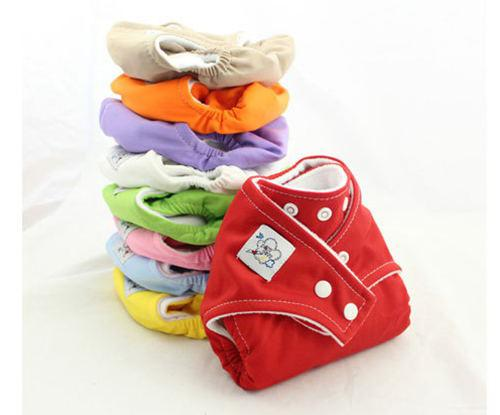 Lowest Price Babycity Adjustable Reusable Baby Washable Cloth Diaper Nappies + cotton Inserts 2Layers U Choose freely