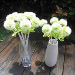 Wholesale white carnations - 20Pcs Fake Carnation Flowers Artificial Dandelion Hydrangea Simulation Plastic Flower for Wedding Home Christmas Decorations