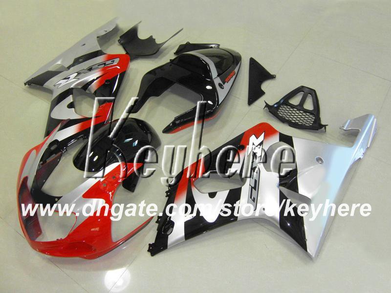 SUZUKI GSX R1000 용 2001 레이스 페어링 키트 2000 2001 GSXR1000 00 01 02 K2 페어링 G4c 핫 실버 애프터 마켓 오토바이 부품