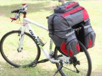 Wholesale Bike Bag Saddle Large - Free ship mountain bike bicycle Travel Large Bag road Bicycle luggage bag Rear back Seat Pannier Huge Dual Saddle Bag 65L,600Dnylon fabric