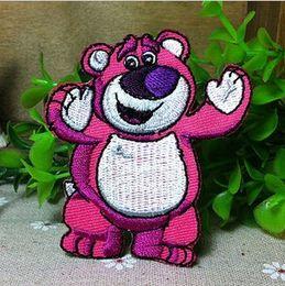 Wholesale Wholesale Bear Patches - Wholesales 10 Pieces~Cartoon Strawberry Bear ( 6 x7 cm) Embroidered Applique Iron On Patch Kids Patch (ALT)