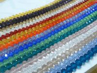 swarovski kristal mücevher boncuklar toptan satış-DIY Takı işaretleme 100 adet karışık Renk Gevşek 10mm Swarovski kristal Rondelle Boncuk lot