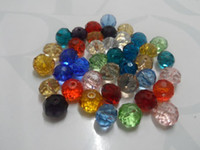 Wholesale Marked Beads - DIY Jewelry marking 100pcs mixed Color Loose 8mm Swarovski crystal Rondelle loose Beads lot