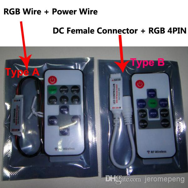 Slim Mini RF RGB LED Controller for RGB LED Strip 5-24V DC,144W/288W
