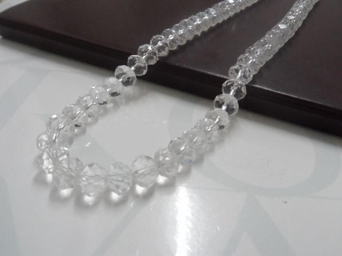 10mm lotto pulito cristallo rotondo Rondelle Beads sciolto moda gioielli fai da te trovare