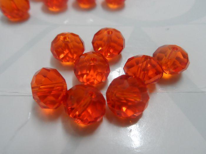 Liberi la nave! lotto 10mm cristalli arancioni vetro rotondo perline moda trovare gioielli fai da te