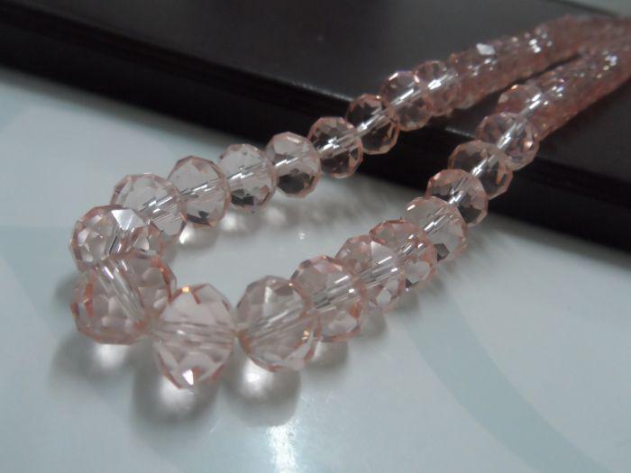 Gratis schip! 72 stks veel 10mm lichtroze kleur kristallen ronde glas losse kralen mode diy sieraden vinden