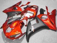 Wholesale yamaha r6 fairing kit black online - Orange black fairing kit FOR Yamaha YZF R6 YZF R6 YZFR6