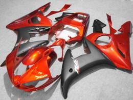 Kit carenatura arancione nero PER Yamaha YZF R6 2003 2004 2005 YZF-R6 03 04 05 YZFR6 600 03-05 da