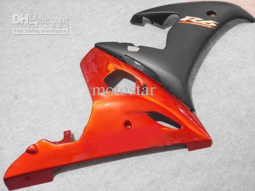 Oranje Black Fairing Kit voor Yamaha YZF R6 2003 2004 2005 YZF-R6 03 04 05 YZFR6 600 03-05
