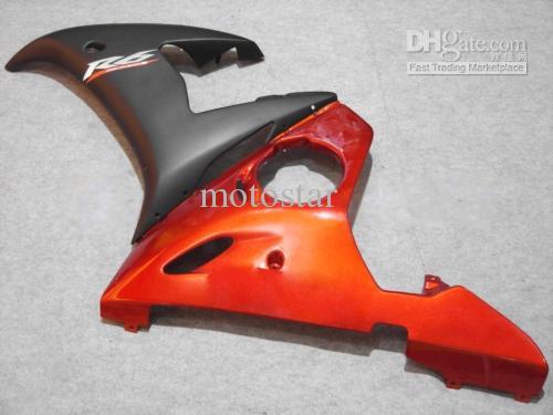 Yamaha YZF R6 2003 2004 2005 YZF-R6 03 04 05 yzfr6 600 03-05のためのオレンジブラックフェアリングキット