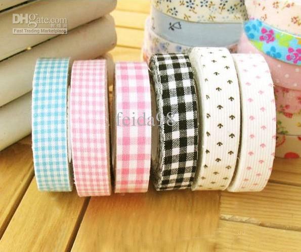 Creative DIY decorative printed cotton tape fabric floral colored tape(100pcs/lot)
