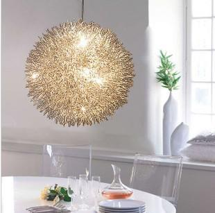 See larger image & Discount 400mm Aluminum 6* G4 Wire Ball Pendant Lamp Lighting ... azcodes.com