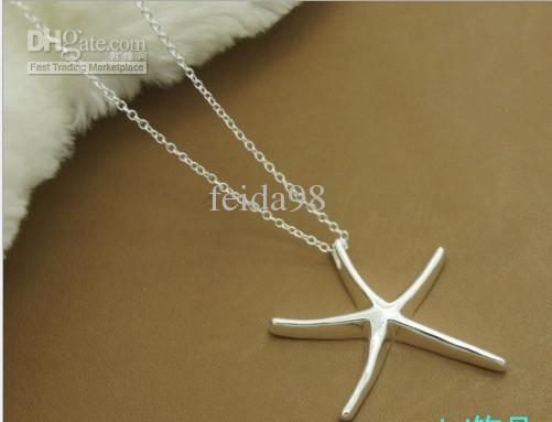 wholesalePlated 925 sterling silver the new Neptune pendant necklace