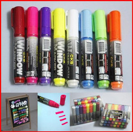 "Wholesale Markets Pen - 8colors Highlighter Pen Market Led Fluoresent Board Writing Pen ""CKS WINDOW MARKER""Marker Pen 40pcs"