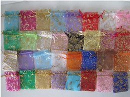 Wholesale Cheap Bags Wholesale China - ORGANZA WEDDING PARTY FAVOUR BAGS LARGE 17x23CM  china products  China goods  cheap bags mix style 100pcs