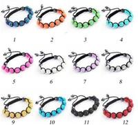 Wholesale Disco Ball Resin - 2017 hot sales designer bracelet 9pcs 10MM*12mm Resin shamballa crystal bracelet disco ball Beads Hematite Bea 100pcs lot