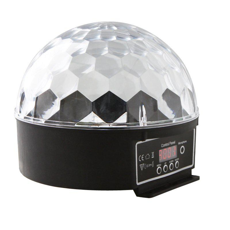Hight Qualidade 6 Canais DMX512 Controle Digital LED RGB Cristal Magic Ball Luz Efeito DMX Discoteca DJ Stage Iluminação Frete Grátis por atacado