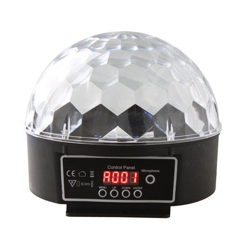 Hight Qualité 6 Canal DMX512 Contrôle Numérique LED RGB Cristal Magic Ball Effet Lumière DMX Disco DJ Stage Éclairage Livraison Gratuite en gros