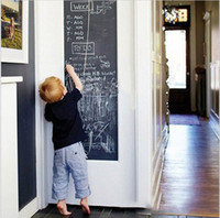 Wholesale Great Wall Decals - Vinyl Chalkboard Wall Stickers Removable Blackboard Decals Great Gift for Kids 45CMx200CM with 5 Free Chalks