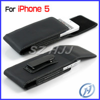 Wholesale Iphone5 Leather Holster - For iphone 5 Flip PU Leather Pouch Carrying Case Metal Belt Clip Case Holster Litchi Pattern iphone5 5G