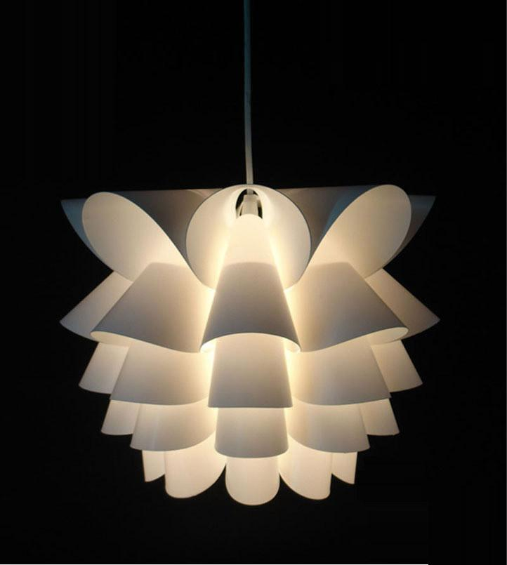 Diy Modern Lotus Plastic Pendant Lamp Dining Living Room