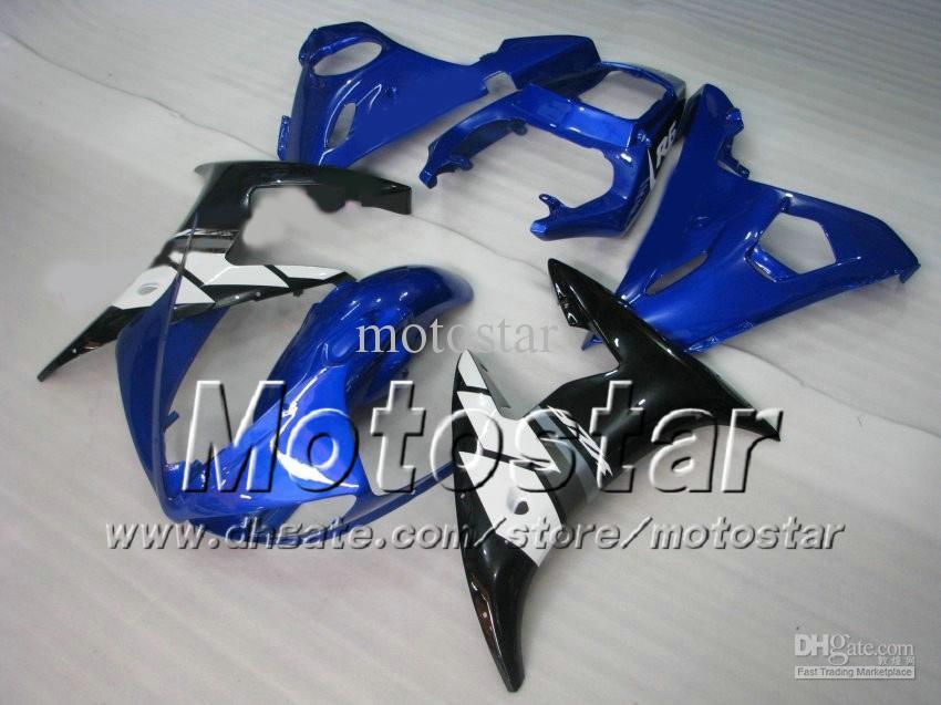 Kit de carenado de 5 regalos para YAMAHA 2003 2004 YZF-R6 03 04 YZFR6 YZF R6 YZF600 azul negro carenados kit de cuerpo zs36