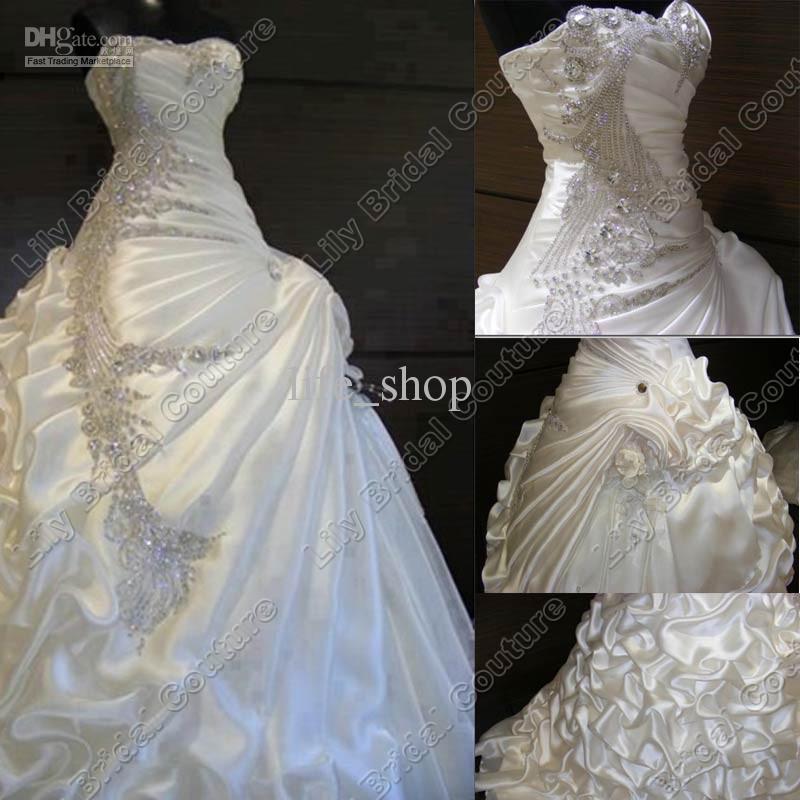 Custom Made, vestido de Baile Vestido De Noiva Barato 2013 Frisado Venda Quente Frete Grátis Vestido de Noiva