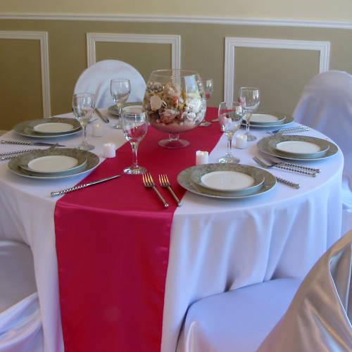 best selling 20 Pcs Fuchsia SATIN TABLE RUNNER 30cm x 275cm Wedding Party Decorations Choose Color NEW