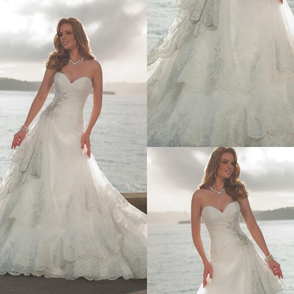 Discount 2013 Beach Wedding Dresses Casual Wedding Dresses