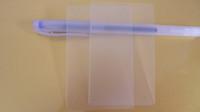 визитные карточки размера оптовых-500шт пустой ПВХ прозрачный матовый материал для визиток Толщина 0.38мм Размер 86x54мм Пластиковый материал для визиток