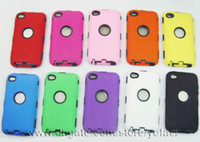 Wholesale Defender Case 4g - Silicone Plastic Defender Silicone Plastic Case Back Cover for ipod touch 4 4th 4G 5 5G Case iPod Toch itouch 4 4G 5 5G Case