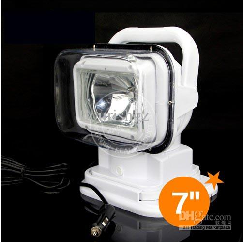 "7"" 70W HID Xenon Search Work Light Magnetic Base Remote Control 360 Degree Wireless Spot Flood Beam 12V/24V 3200lm SUV ATV 4WD 4x4 White 75W"