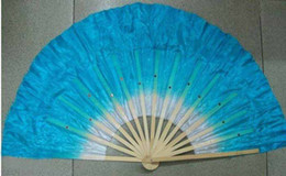 Wholesale Chinese Fan Red - Wholesale - free shipping SILK Folk Art Chinese HandeMade Belly Dance Fans contume fan #8187