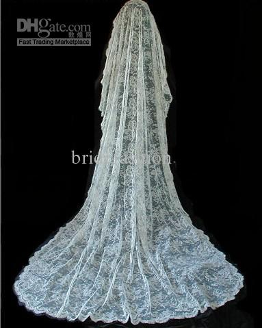 Amazing!!2013 Hot Sale Chic Lace Bridal veil
