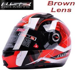 Wholesale Dot Racing Helmets - ECE DOT LS2 undrape face helmet OFF Road Helmet with ABS and red universe color Motorcycle helmet Moto Racing helmet FF370 Motorbike helmet