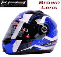 Wholesale Ls2 Helmets Blue - ECE DOT LS2 undrape face helmet OFF Road Helmet with ABS and Blue universe color Motorcycle helmet open face helmet FF370 Motorbike helmet